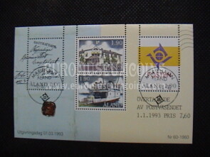 1993 Aland BF Indipendenza Postale Timbrato