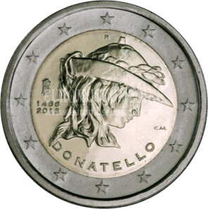 Italia 2016 Donatello 2 euro commemorativo