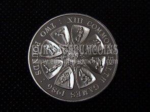 1986 Guernsey 2 Pounds in argento Proof Commonwealth Games