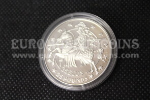 1992 Gibilterra 35 ECU Cavaliere in argento Proof