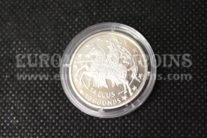 1992 Gibilterra 14 ECU Cavaliere in argento Proof