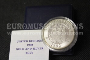 1992 Regno Unito 25 ECU Proof Europa in argento