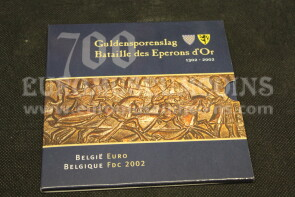 2002 Belgio divisionale Eperons D'Or FDC in confezione ufficiale