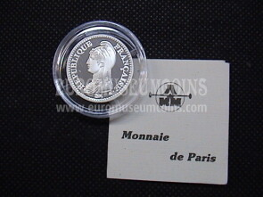 1992 Francia 1 Franco in argento Proof