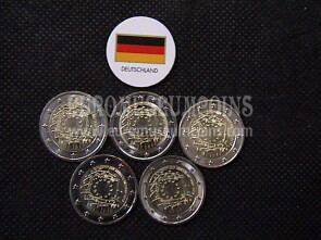 Germania 2015 Bandiera U.E. 2 Euro commemorativo 5 zecche