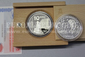 2002 Spagna 10 Euro in argento PROOF Gaudì Parque Guell