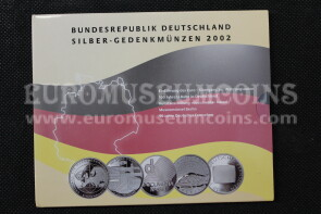 2002 Germania 10 Euro Proof in argento serie ufficiale