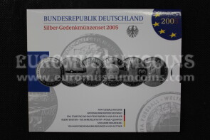 2005 Germania 10 Euro Proof in argento serie ufficiale