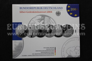 2004 Germania 10 Euro Proof in argento serie ufficiale