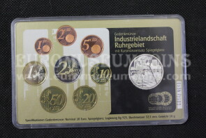 2003 Germania Serie Euro con 10 Euro in argento Proof  Ruhr