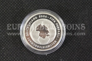 2003 Germania Mondiali Calcio 10 Euro Proof in argento
