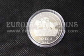 1992 Finlandia 20 ECU Proof C.S.C.E. in argento