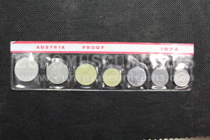 1974 Austria serie proof