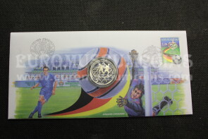 2004 San Marino 5 Euro PROOF Mondiali Calcio Germania 2006 in argento busta filatelico numismatica