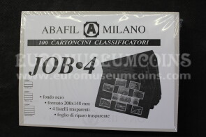 Job 4 100 Cartoncini Classificatori a 4 listelli