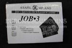 Job 3 100 Cartoncini Classificatori a 3 listelli