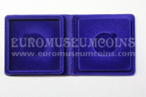 22 mm Astuccio Moneyfloc ad 1 posto per sterlina marengo colore blu