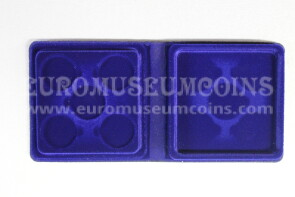 22 mm Astuccio Moneyfloc a 5 posti per sterlina marengo colore blu