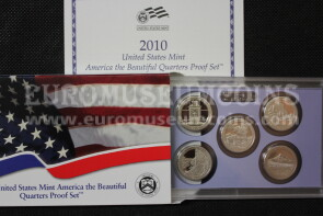 2010 U.S.A. America Quarters proof set Parchi