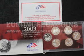 2009 U.S.A. America Quarters silver proof set Territory in argento