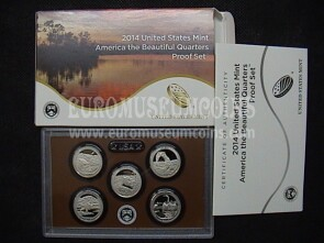 2014 USA America Quarters proof set Parchi
