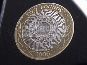 2006 Gran Bretagna moneta da 2 Pounds Proof