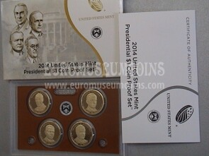 2014 Stati Uniti set dollari Presidenti Proof