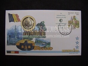 Belgio moneta da 1 euro in coin cover