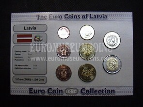 2014 Lettonia serie 8 monete Euro Coin Collection