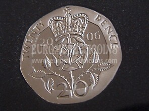 2006 Gran Bretagna moneta da 20 Pence Proof