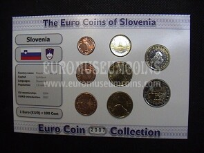 2007 Slovenia serie 8 monete Euro Coin Collection