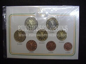 2004 Irlanda serie completa 8 monete euro in blister Eurocollection