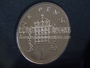 2006 Gran Bretagna moneta da 1 Penny Proof