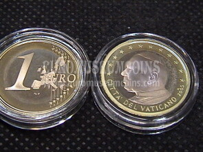 2005 Vaticano euro 1 proof da set ufficiale