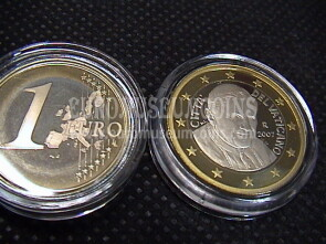 2007 Vaticano euro 1 proof da set ufficiale