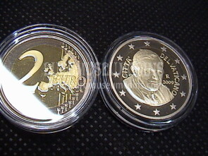 2009 Vaticano 2 euro proof da set ufficiale