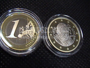 2009 Vaticano euro 1 proof da set ufficiale