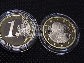2010 Vaticano euro 1 proof da set ufficiale