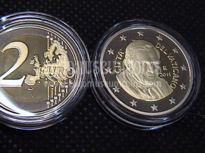 2011 Vaticano 2 euro proof da set ufficiale