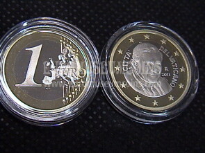 2011 Vaticano euro 1 proof da set ufficiale