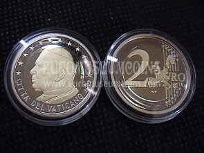 2002 Vaticano 2 EURO proof da set ufficiale