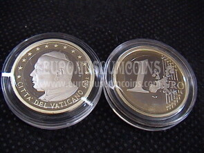 2002 Vaticano euro 1 proof da set ufficiale