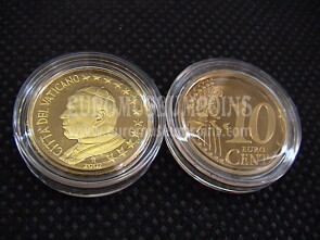 2002 Vaticano eurocent 10 proof da set ufficiale
