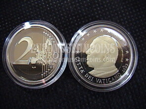 2003 Vaticano 2 euro proof da set ufficiale