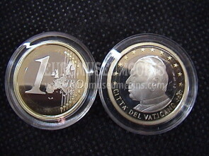 2003 Vaticano euro 1 proof da set ufficiale