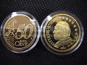 2003 Vaticano eurocent 50 proof da set ufficiale