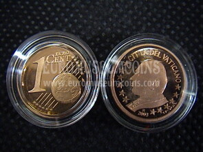 2003 Vaticano eurocent 1 proof da set ufficiale