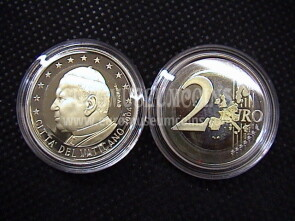 2004 Vaticano 2 EURO proof da set ufficiale