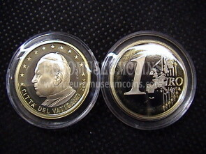 2004 Vaticano euro 1 proof da set ufficiale
