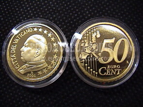 2004 Vaticano eurocent 50 proof da set ufficiale